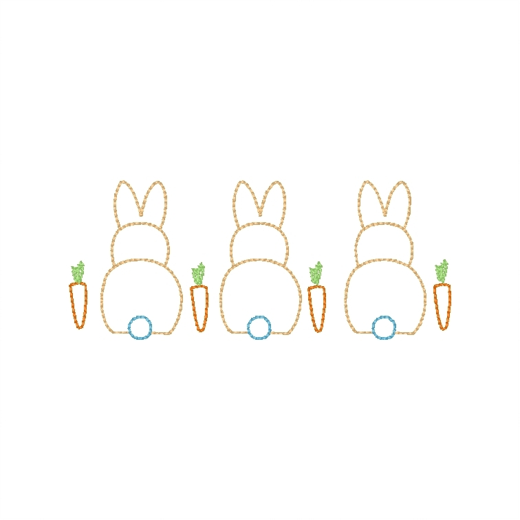 Bunnies with carrots (sketch)