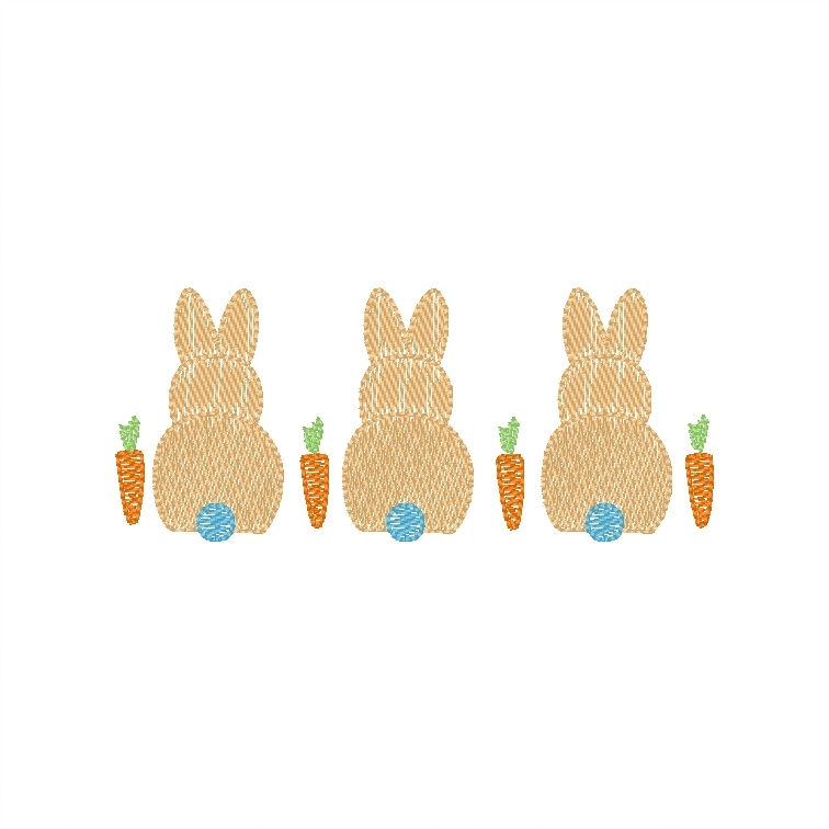 Bunnies with carrots