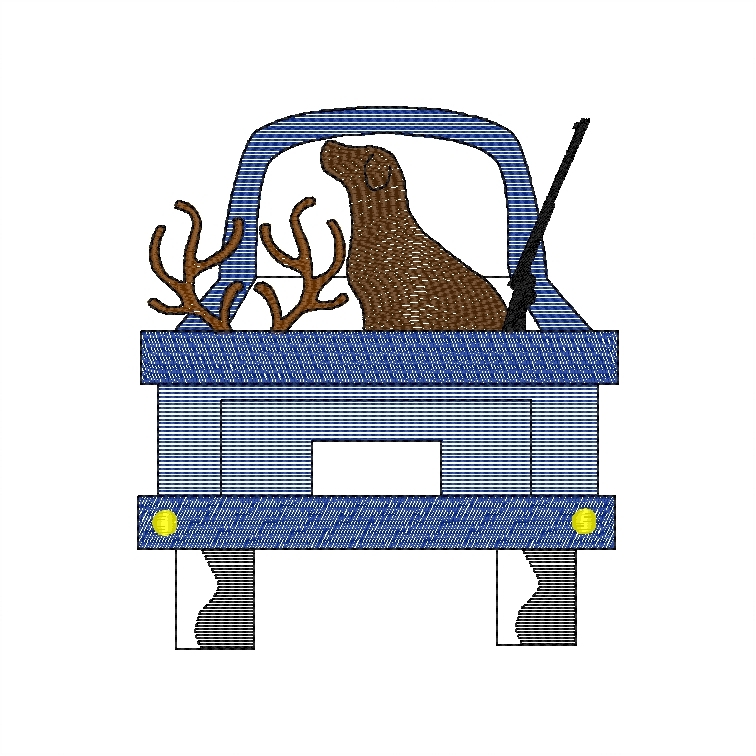 Dog in Truck (deer)