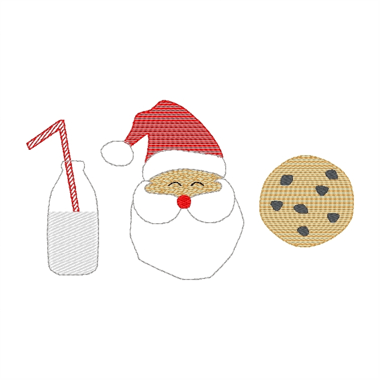 Santa with milk & cookies