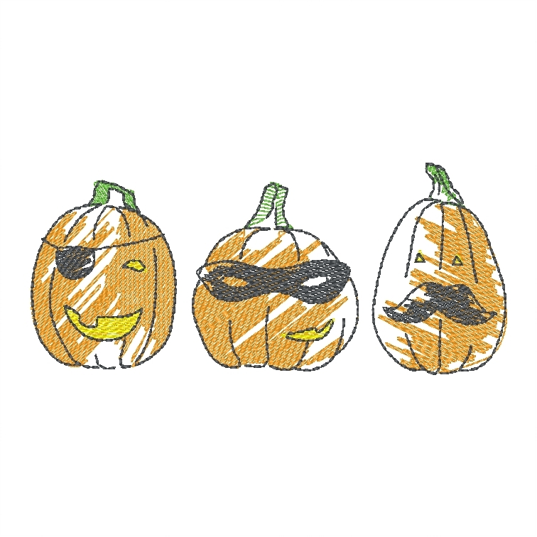 Pumpkin Trio (Masks)