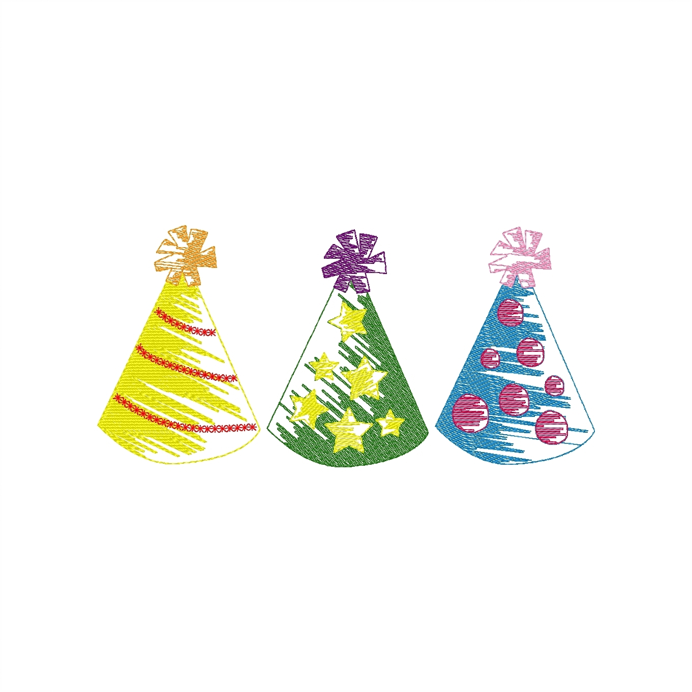 Party Hat Trio
