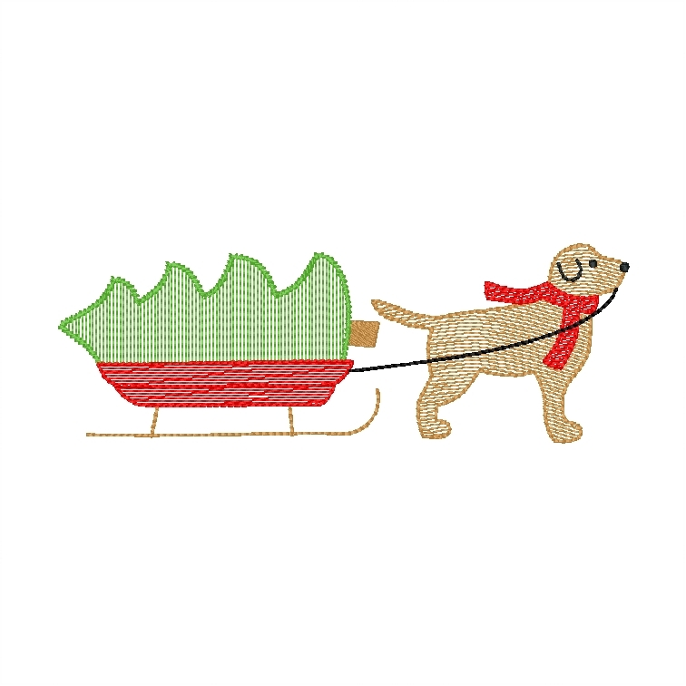 Dog and Sled