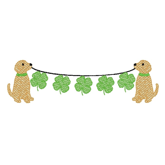Dog and Clovers