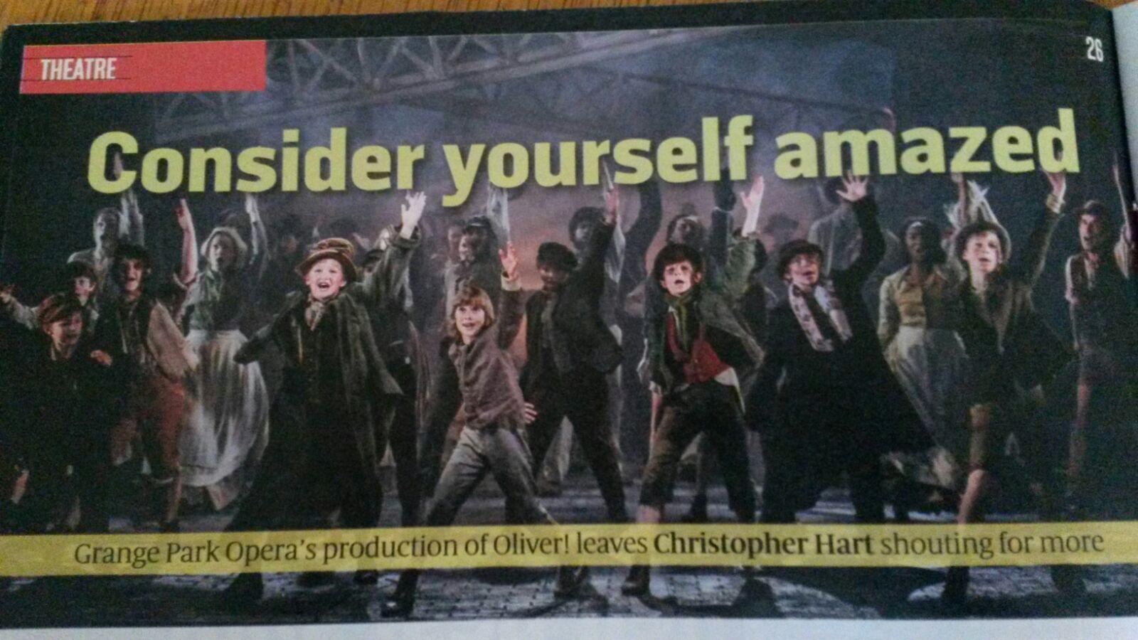 Dom Bryant, Ben Perkins and Wesley Hargreaves in 'Oliver!' - Grange Park Opera