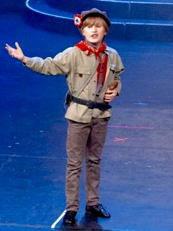 Ben Perkins as Gavroche in 'Les Miserables' -