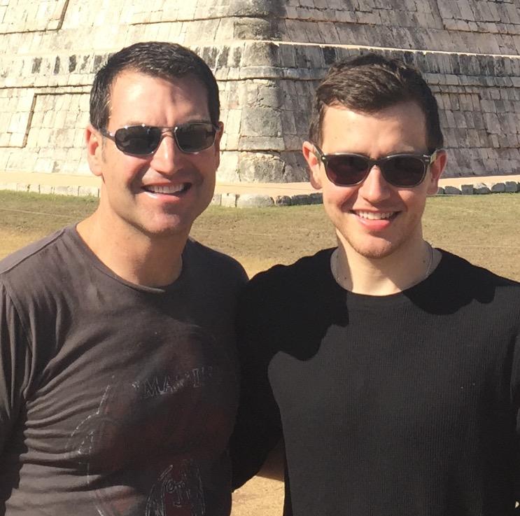 Len with his son, Matt, a cancer survivor.