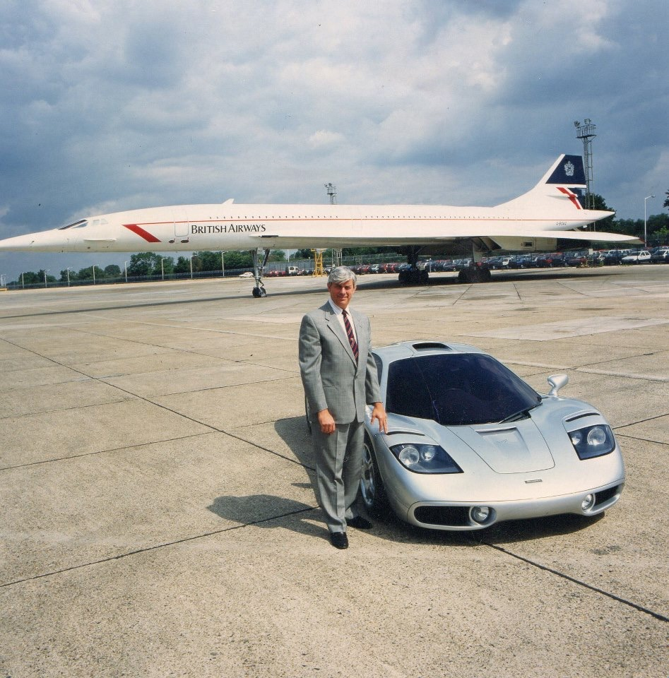 The McLaren F1 and the Concorde. Photo: lounge buddy