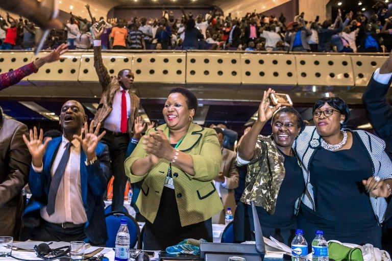 Joy In Zimbabwe  Image: Metro