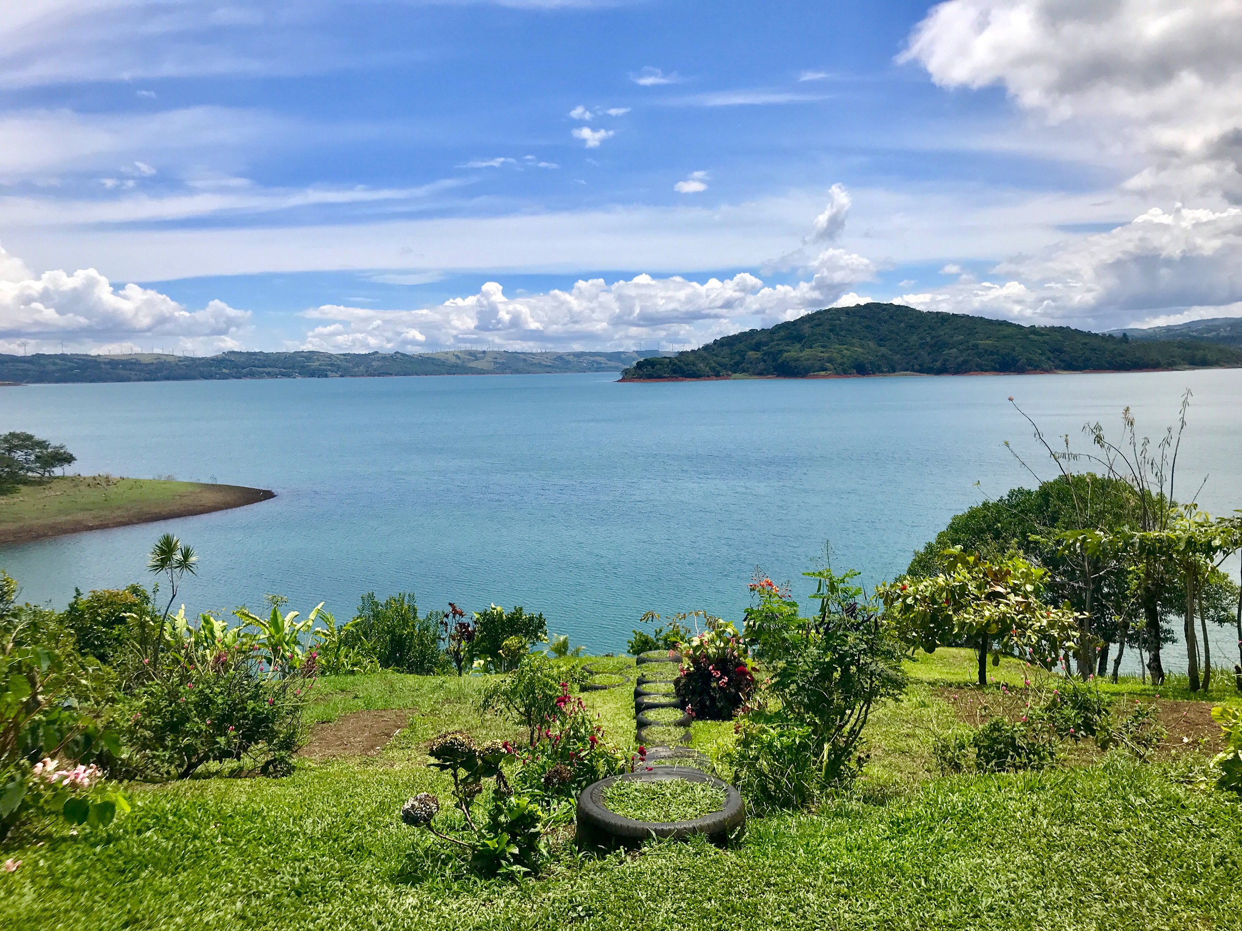 Lunch views of Lake Arenal