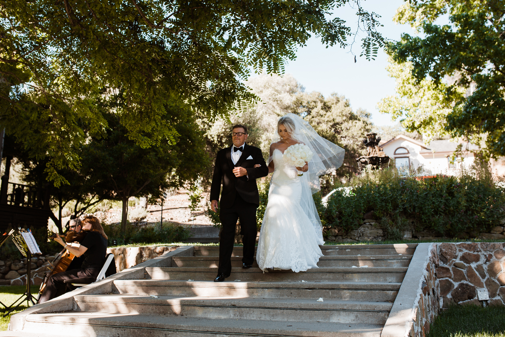 Bride walking down aisle Elliston Vineyard Sunol.jpg