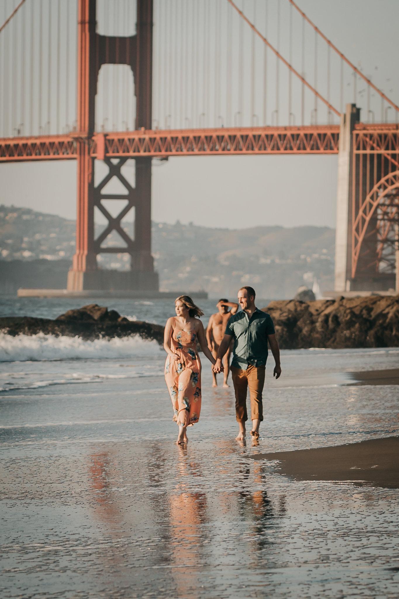 Baker Beach Engagement Nudist