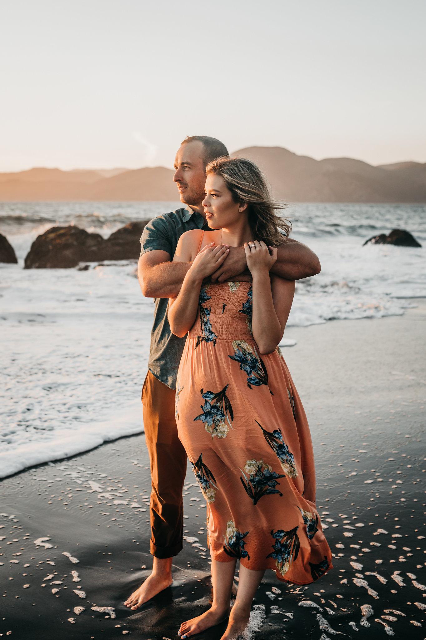Engagement Shoot Baker Beach Couple