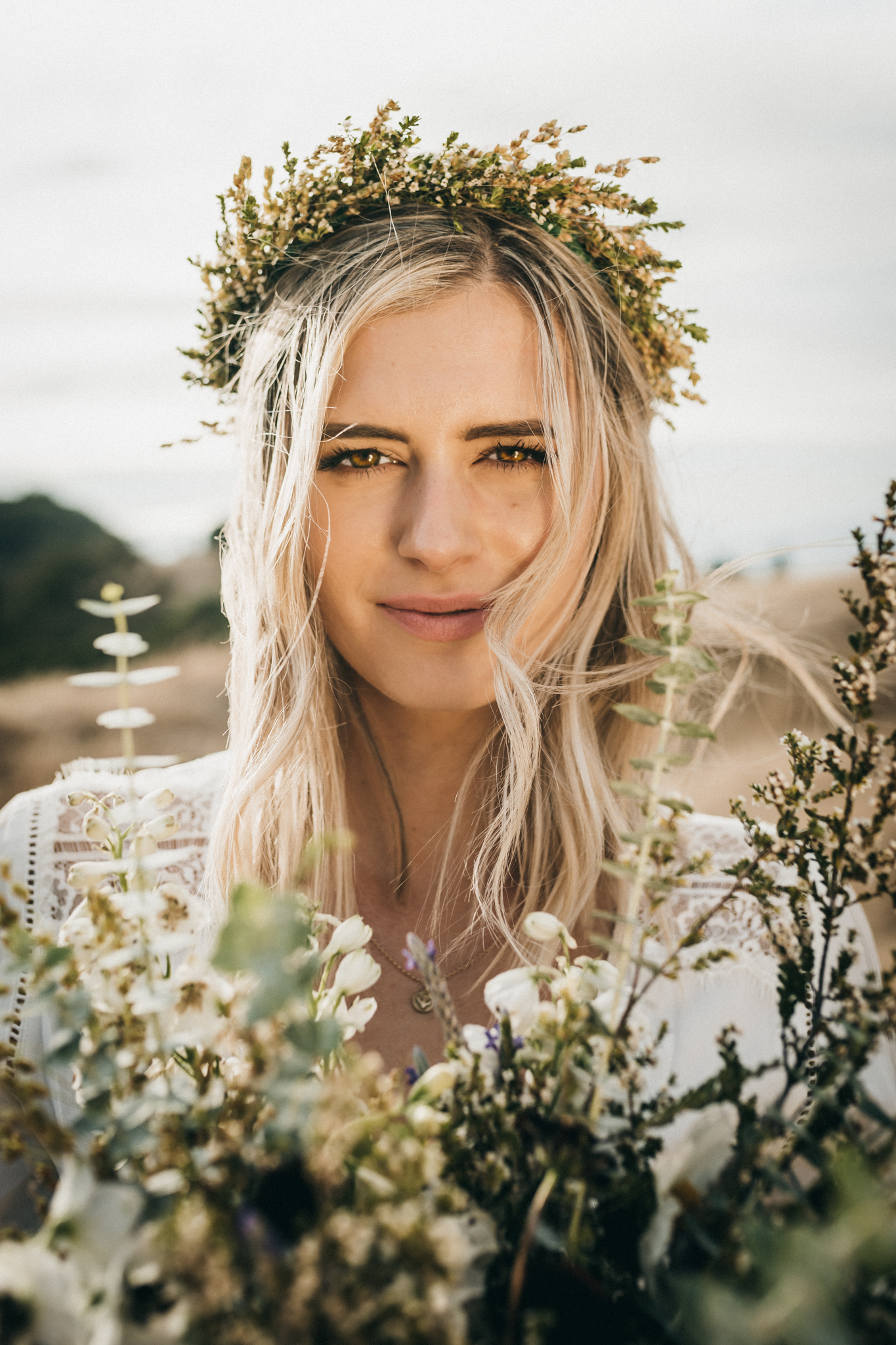 Pleasanton Boho Bride Portrait