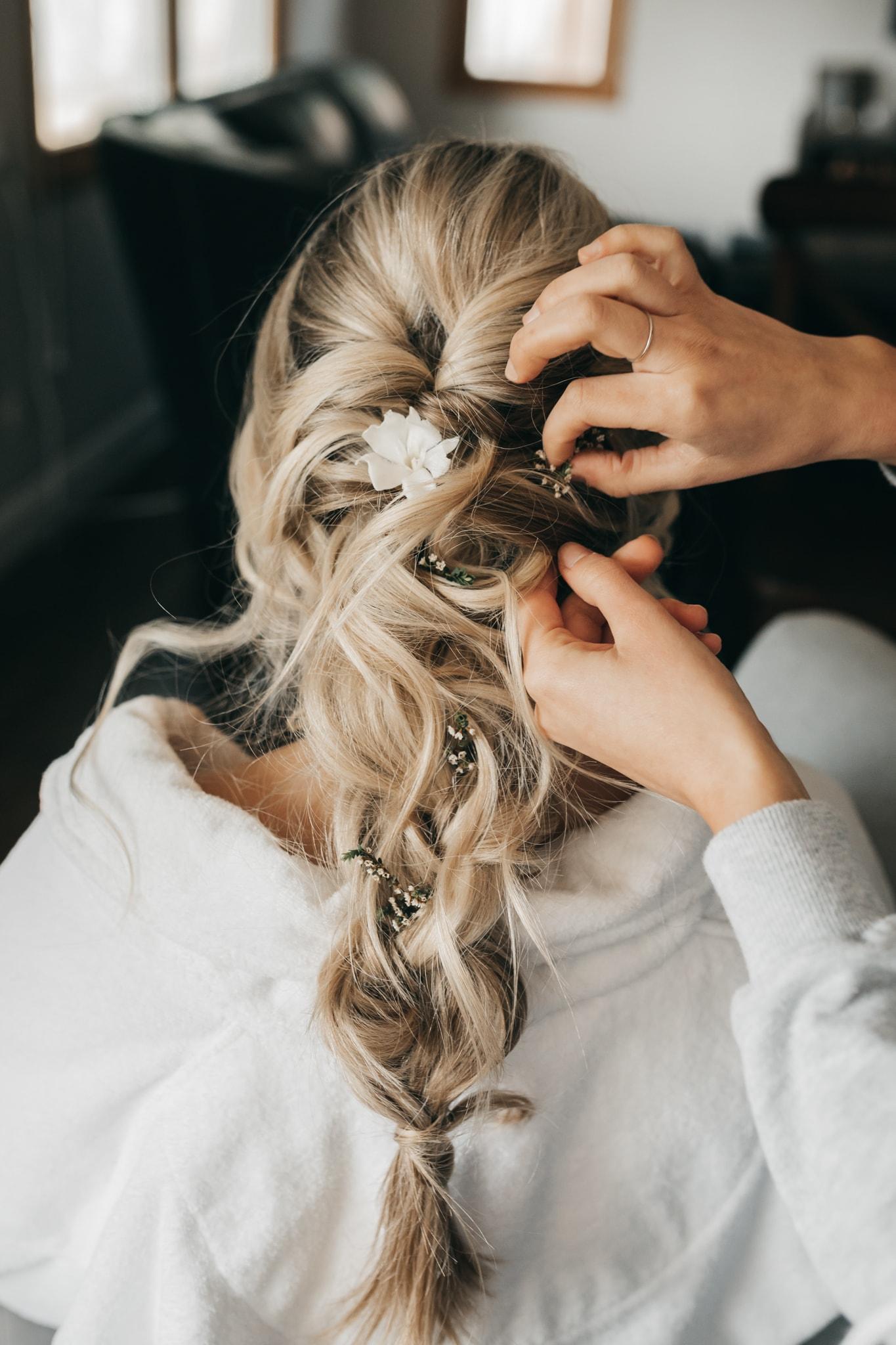 Pleasanton Boho Bride Hairstyle
