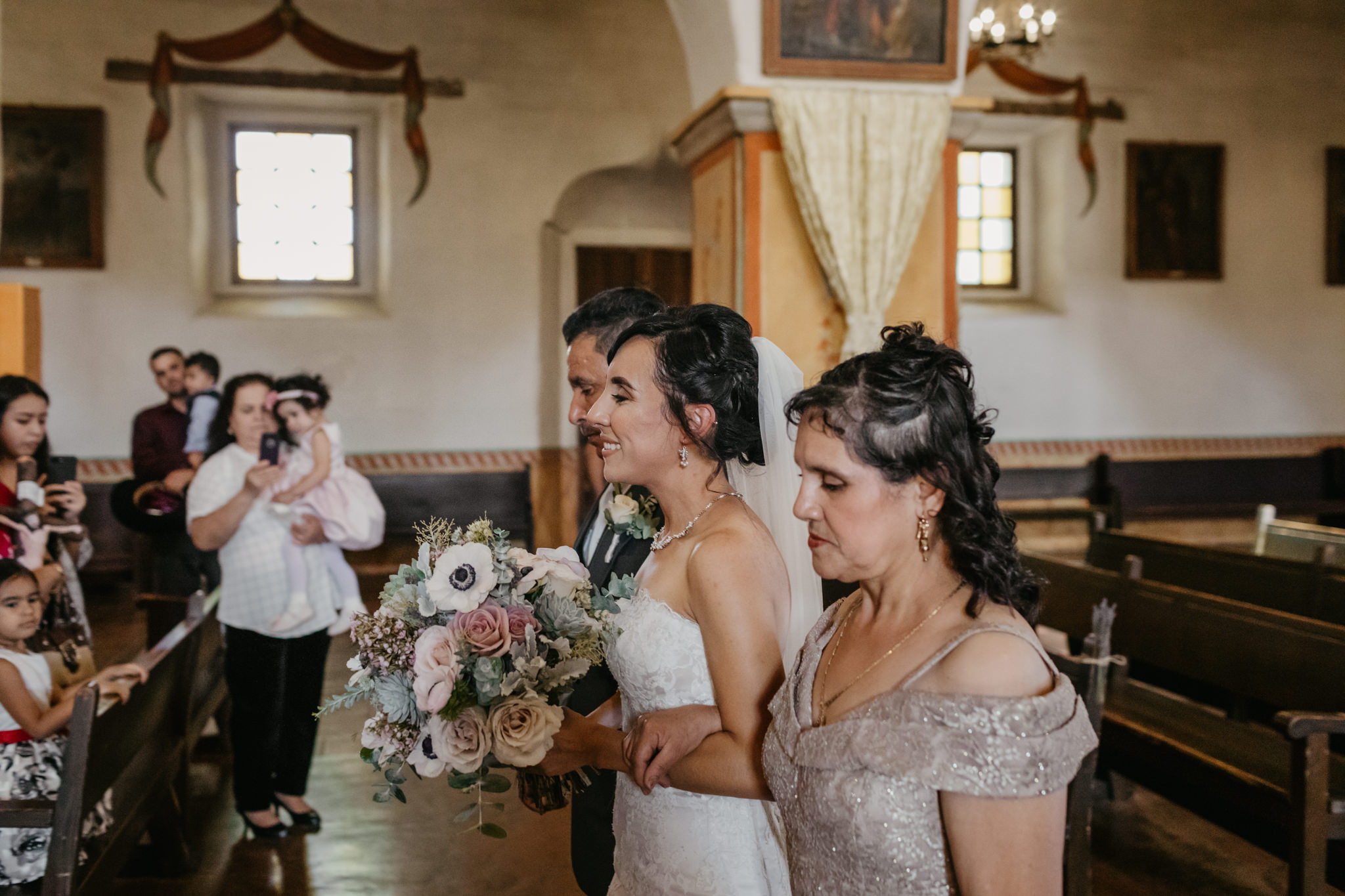 San Juan Bautista Church Wedding Bride