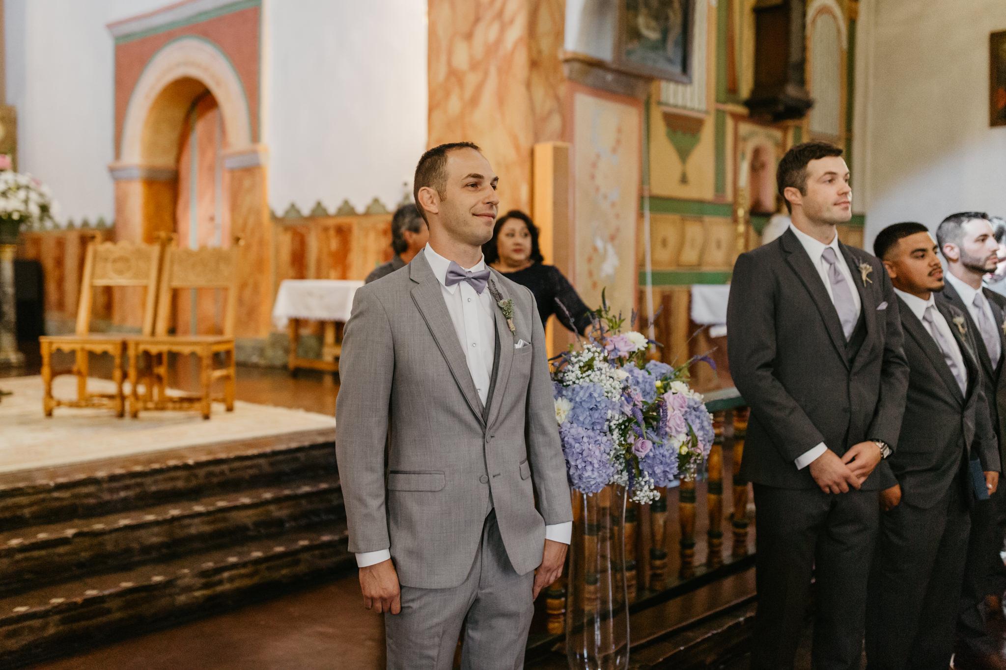 San Juan Bautista Church Wedding GRoom