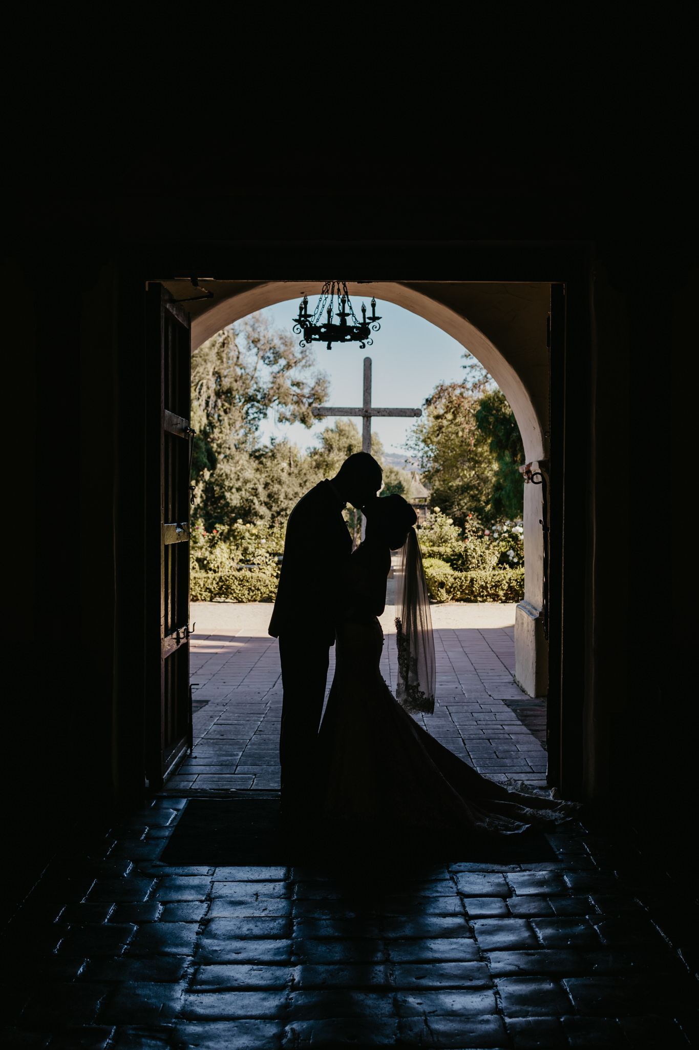 San Juan Bautista Church Wedding Silohuette