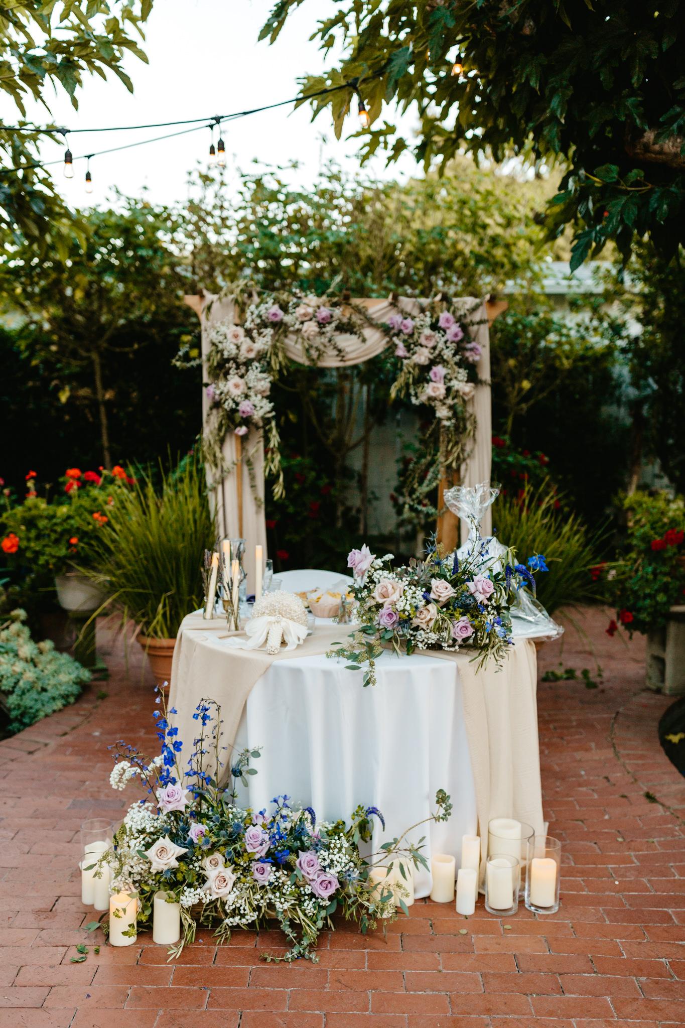 Jardines Outdoor Garden Wedding Reception Table