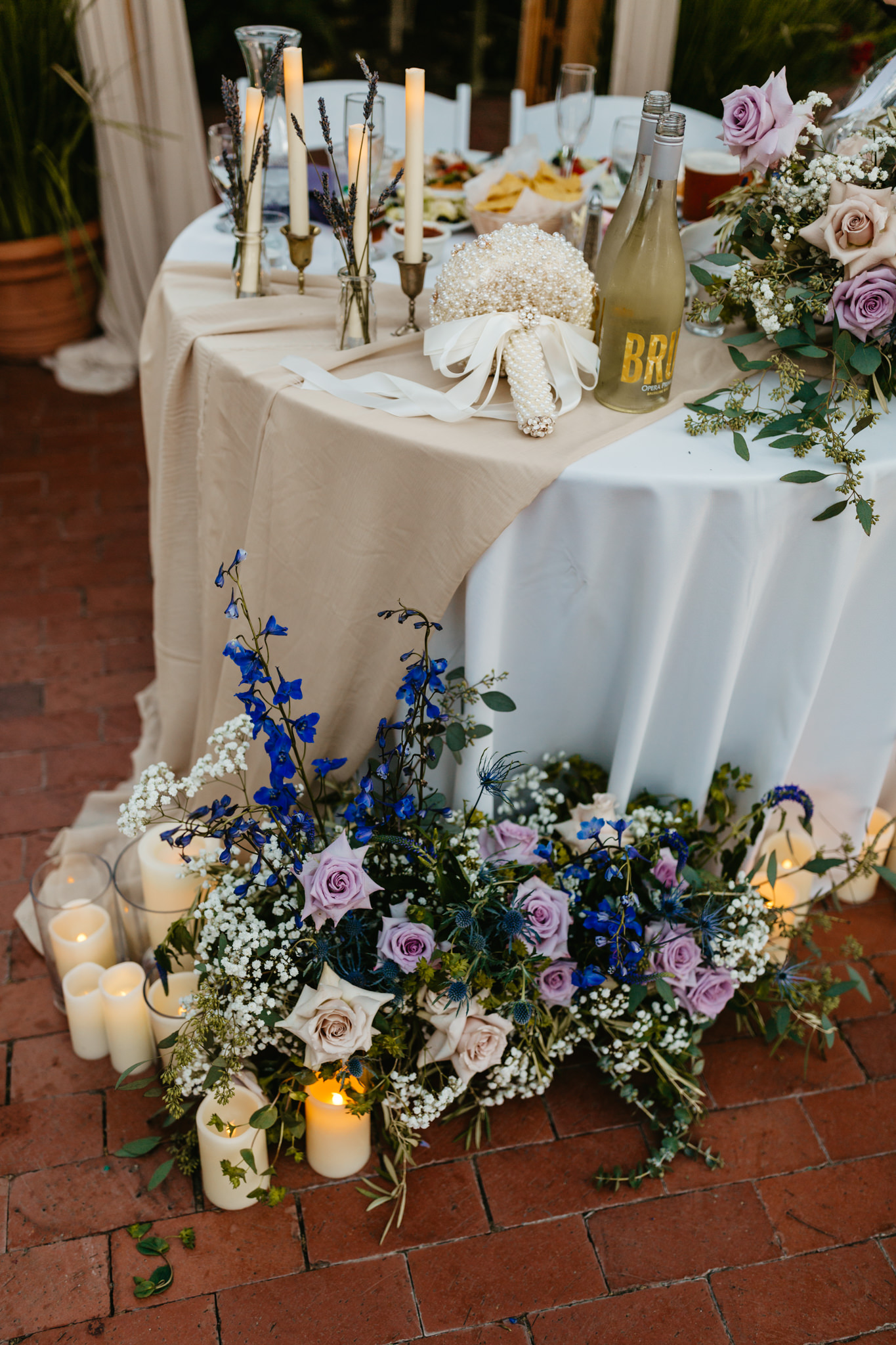 Jardines Outdoor Garden Wedding Reception Sweetheart Table