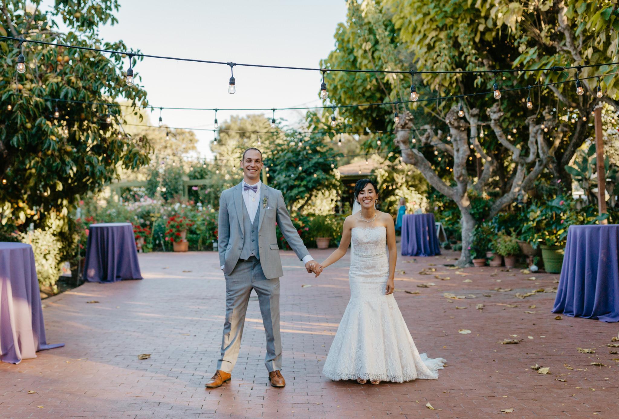 Jardines Outdoor Garden Wedding Reception Bride Groom