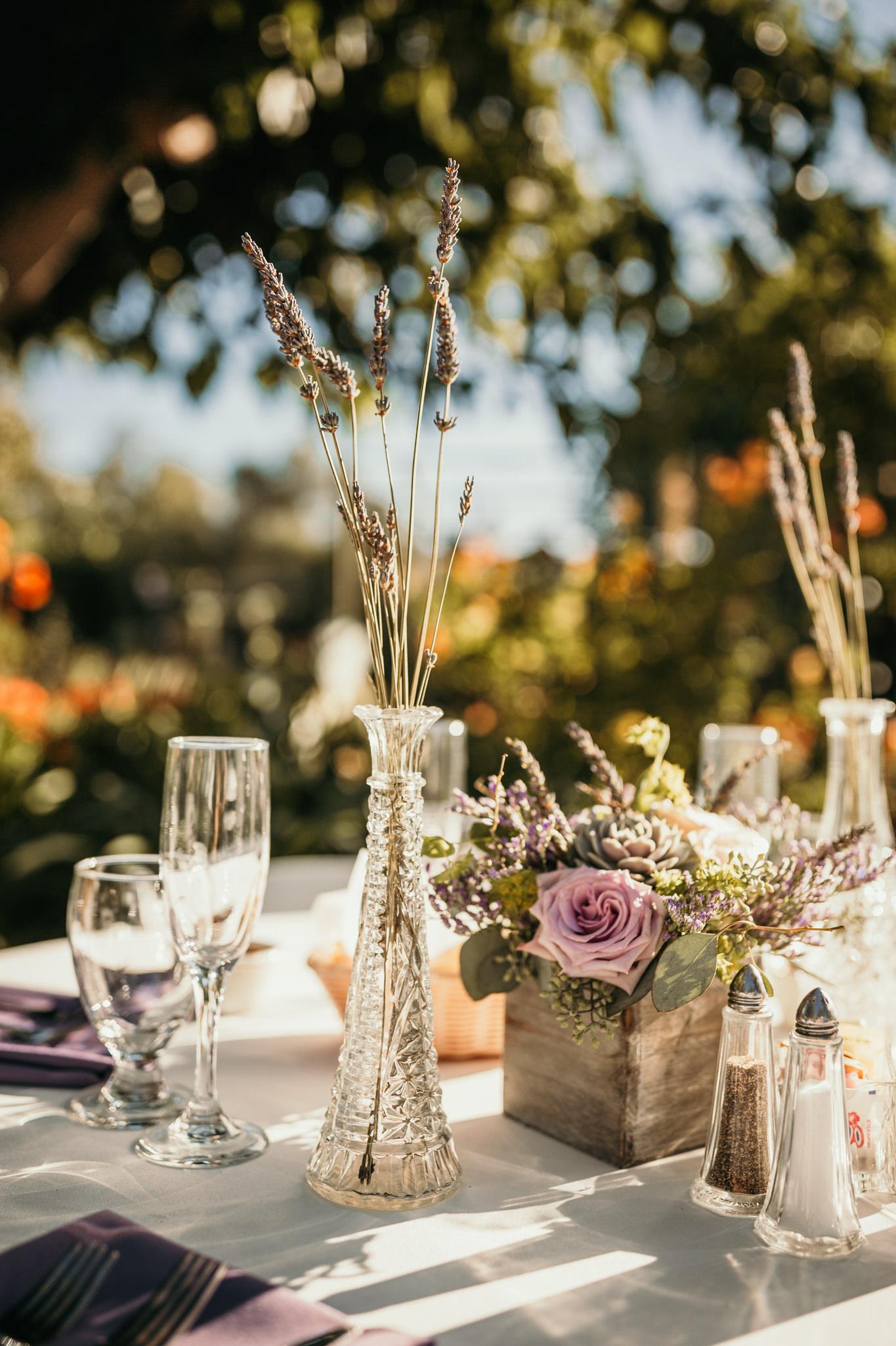 Jardines Outdoor Garden Wedding Reception Lavender