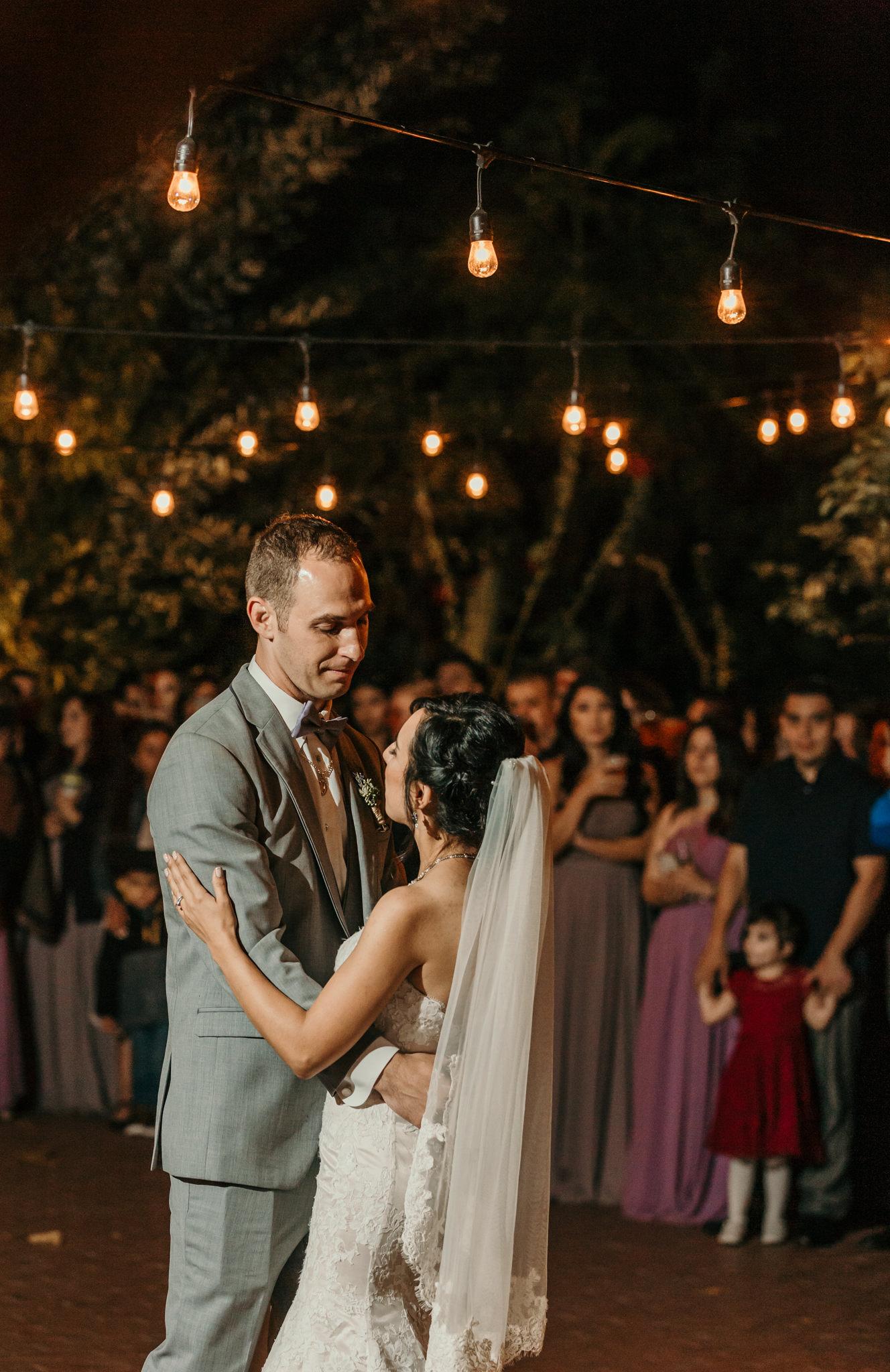 Jardines Outdoor Garden Wedding Reception First Dance
