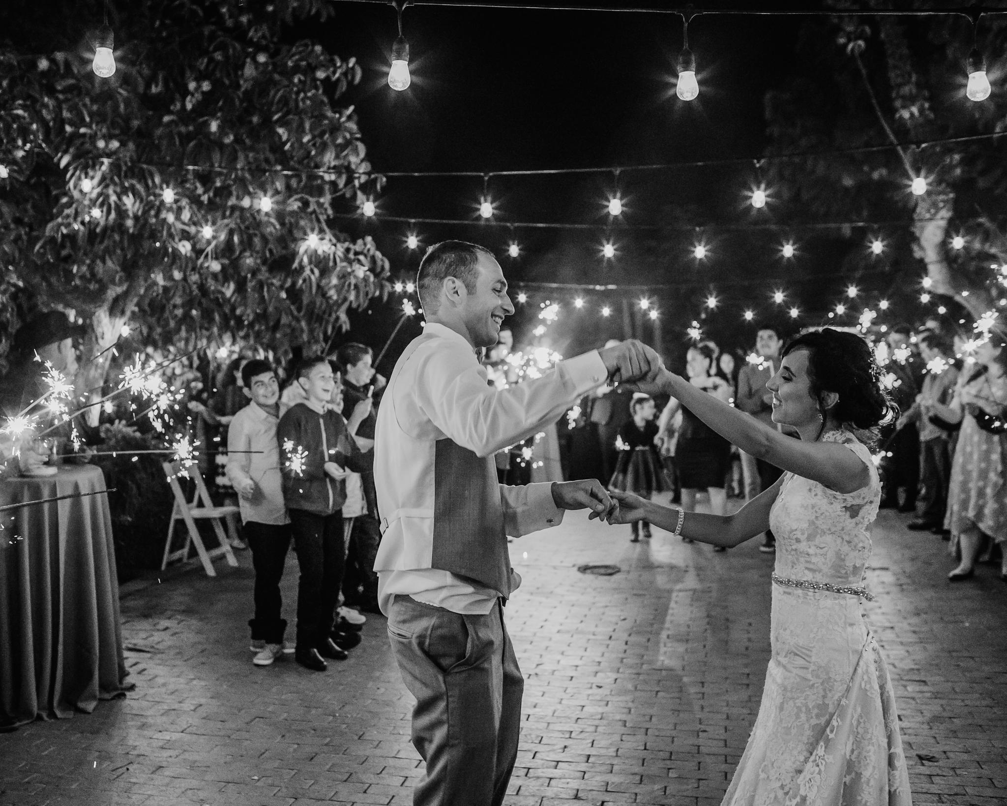 Jardines Outdoor Garden Wedding Reception Party Sparklers