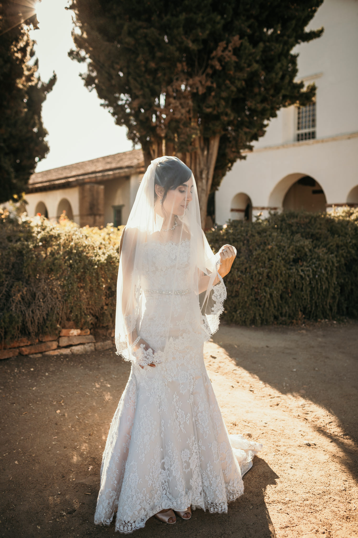 San Juan Bautista Church Bride Veil