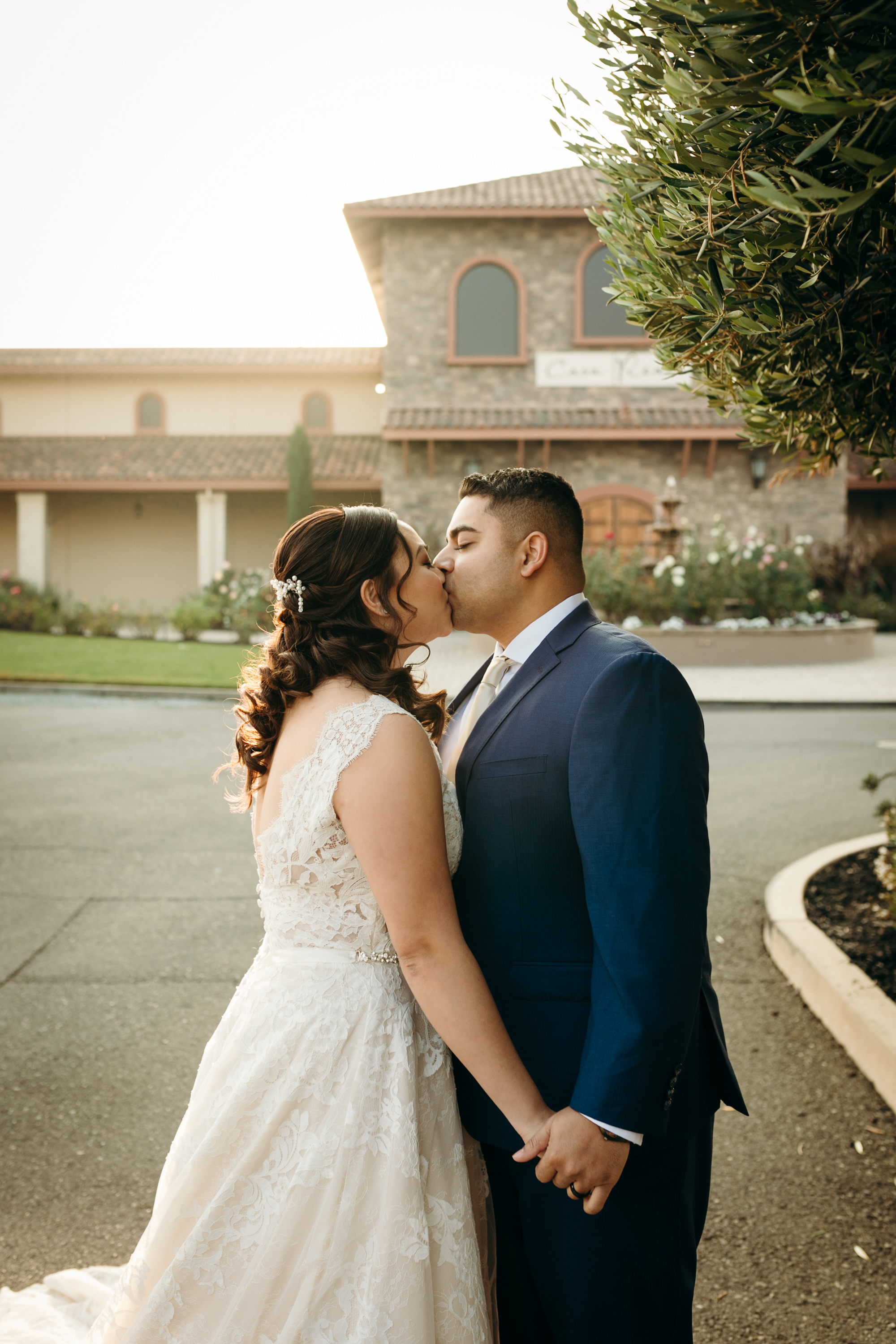 Bride and Groom Kiss Casa Real Ruby Hill