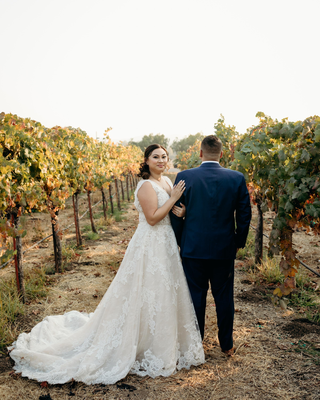 Bride and Groom Casa Real Ruby Hill Vineyard
