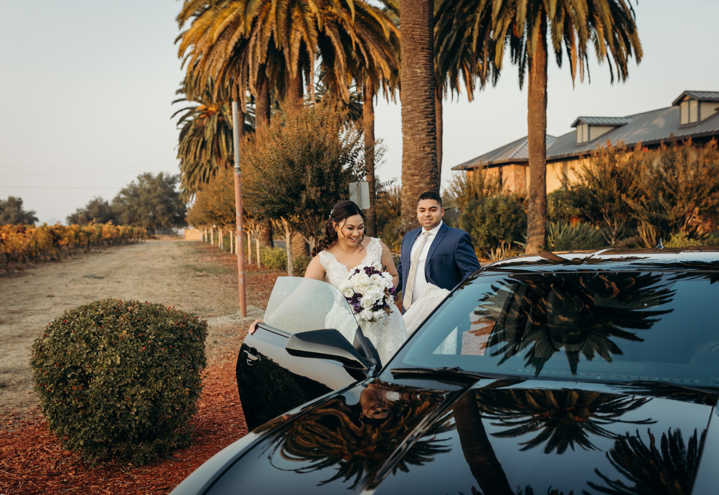 Bride and Groom Mustang Palm Event Center
