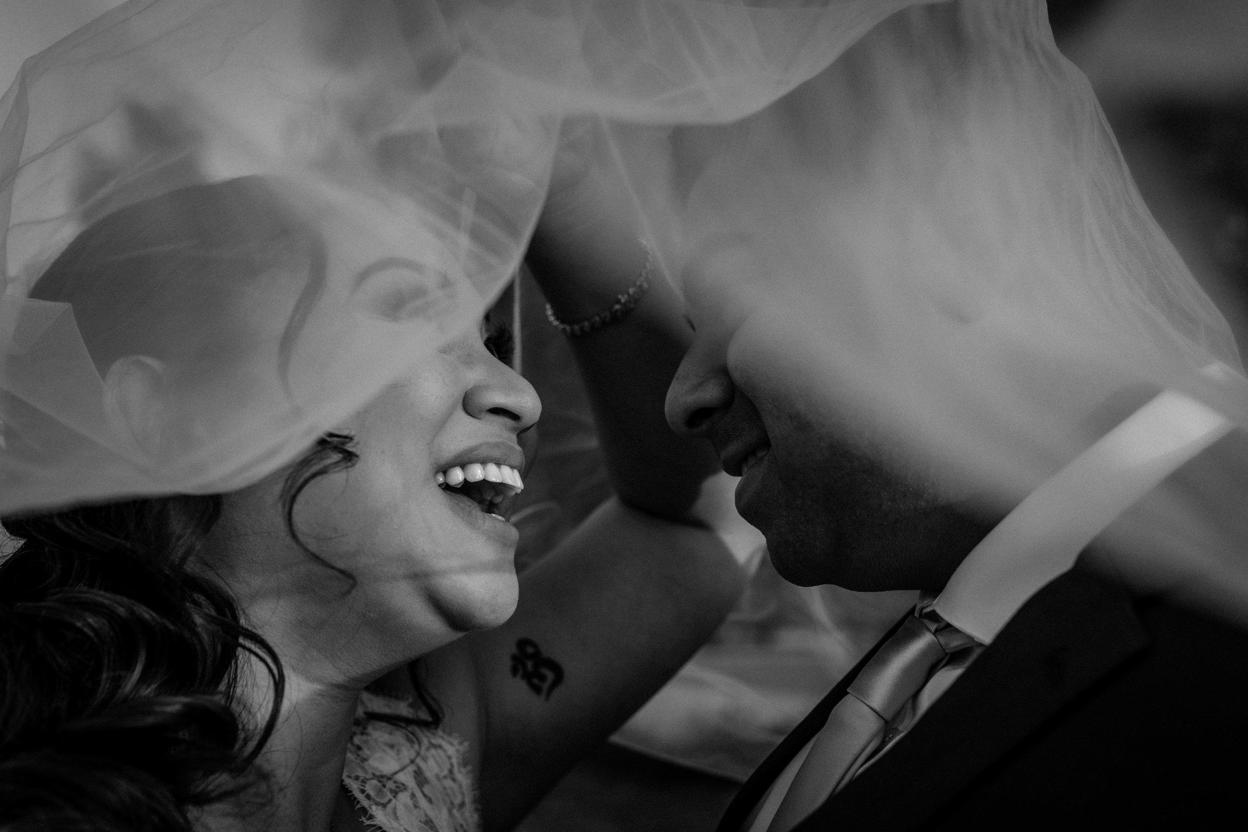 Bride and Groom Veil Palm Event Center Livermore