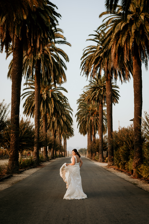Bride at Palm Event Center Livermore