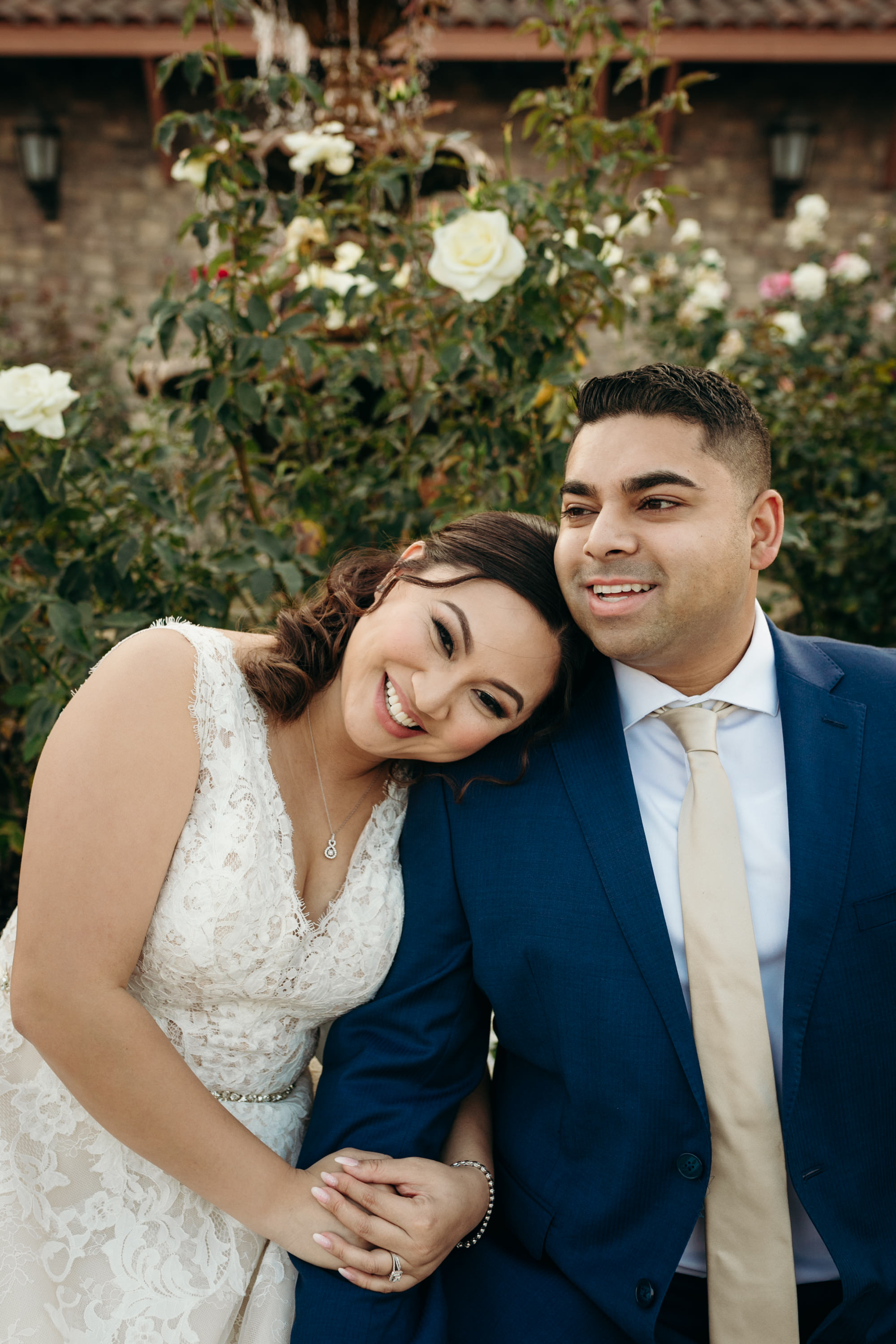Bride and Groom laughing Casa Real Ruby Hill