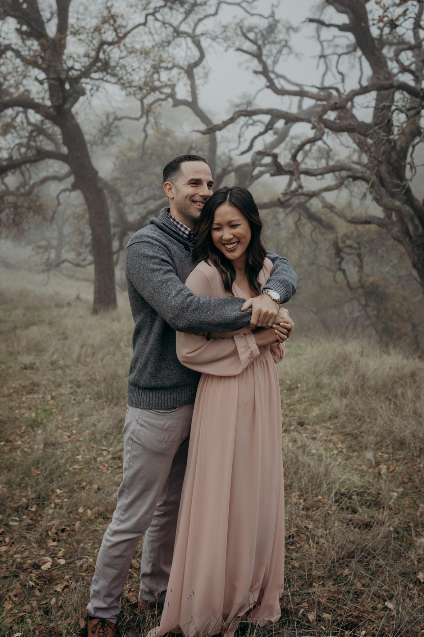 Walnut Creek Engagement Session Couple Lulus Dress
