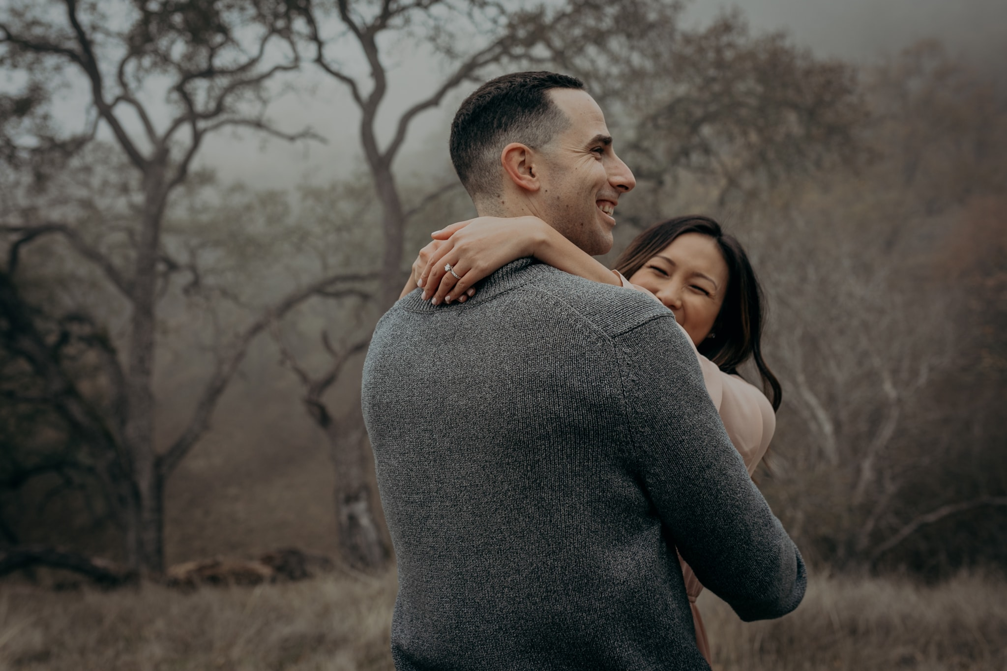Walnut Creek Engagement Session Couple happy Smiling