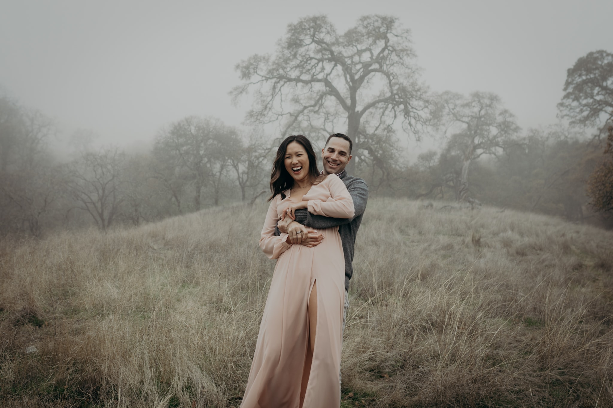 Walnut Creek Engagement Session Couple picked up swing