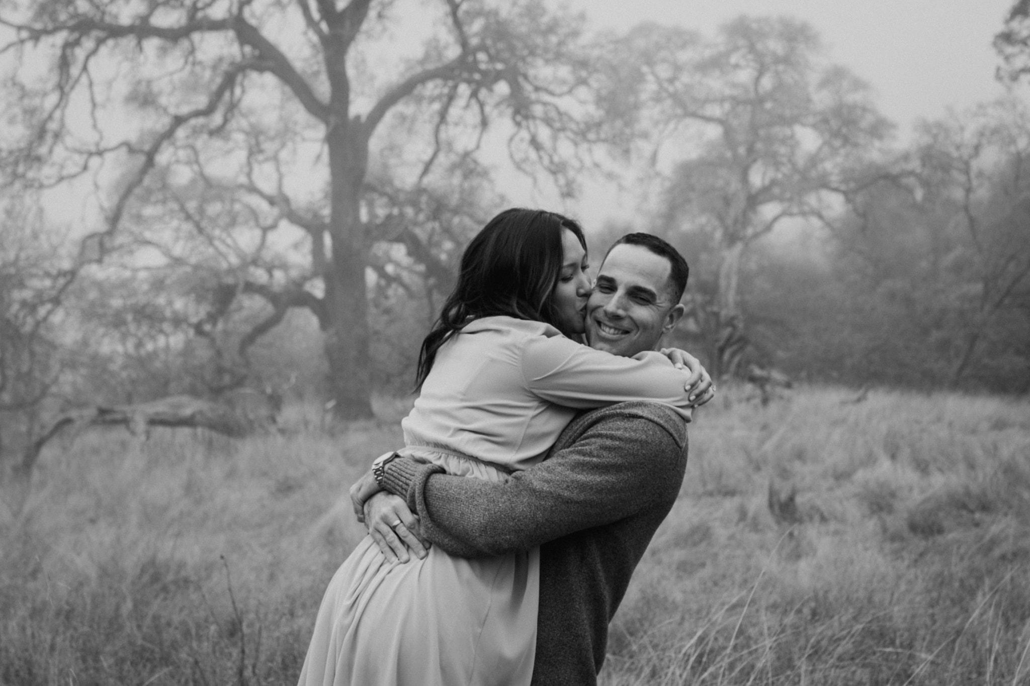 Walnut Creek Engagement Session Couple black and white