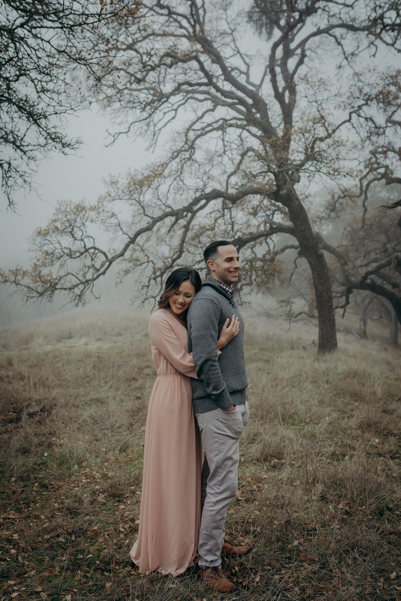 Walnut Creek Engagement Session Couple foggy