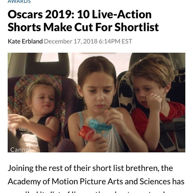 had some extraordinary news today; we've been shortlisted for the Oscars. ecstatic to be chosen and humbled to be in the company of some incredible other films. thank you all for your support throughout! #oscars #shortlist #liveactionshort #walefilm #shortfilm #londonfilm #britishfilm @theacademy @barnabyblackburn @damasuerte @sophiejanealexander @edwardjspeleers @lawvva @robbiejbryant @lilsabraham @theffb @teddyloveline @shaunatags @jonnyplatt @nettihurley @jasoncolourist @gordonjgoodwin
