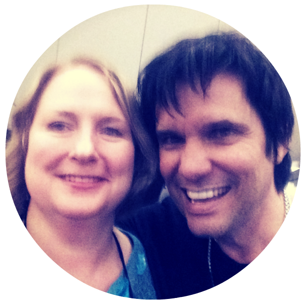 Kathy with NY Times best selling author Ted Dekker at a writing conference