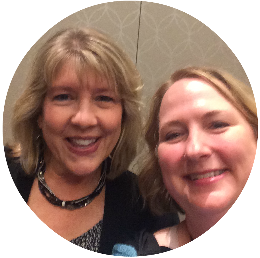 Kathy with author Deborah Raney at ACFW National Conference