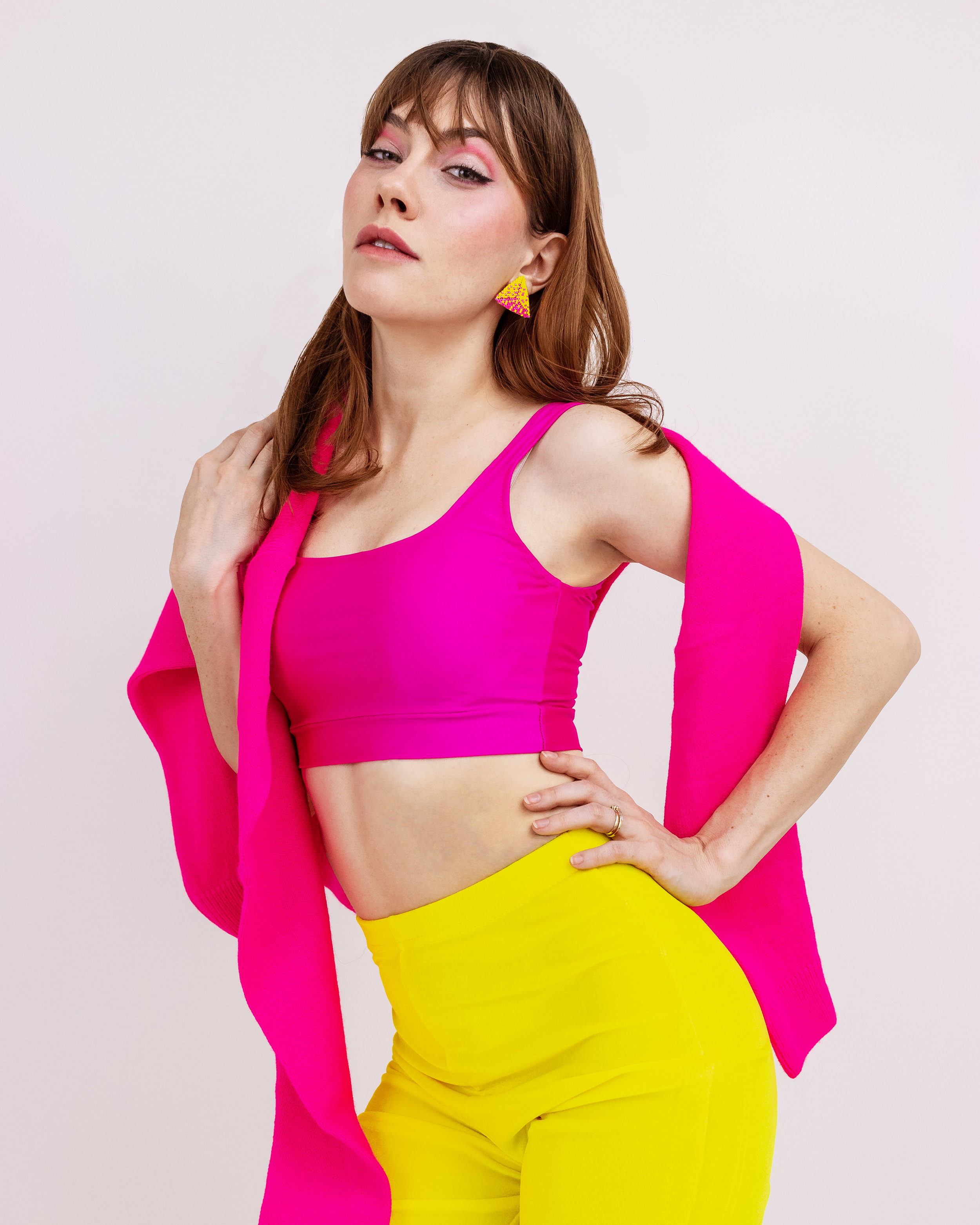 Electric Fuscia & Yellow