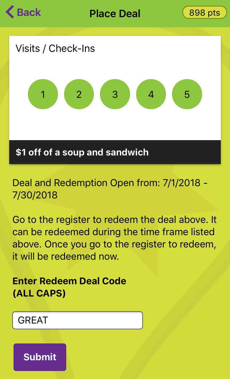Place Tempo Redeem Deal Code