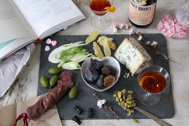 Hanky Panky Cocktail Cheese Board for Valentines