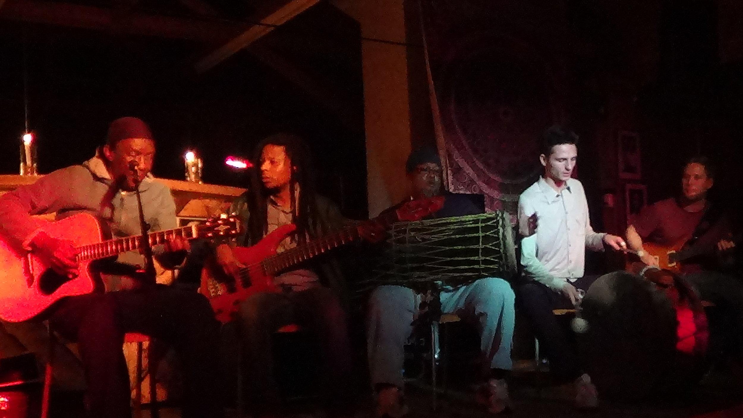 Madala, Frank, Ricky, Fabio & Carlo 2 @ Sipho bar FJ.JPG