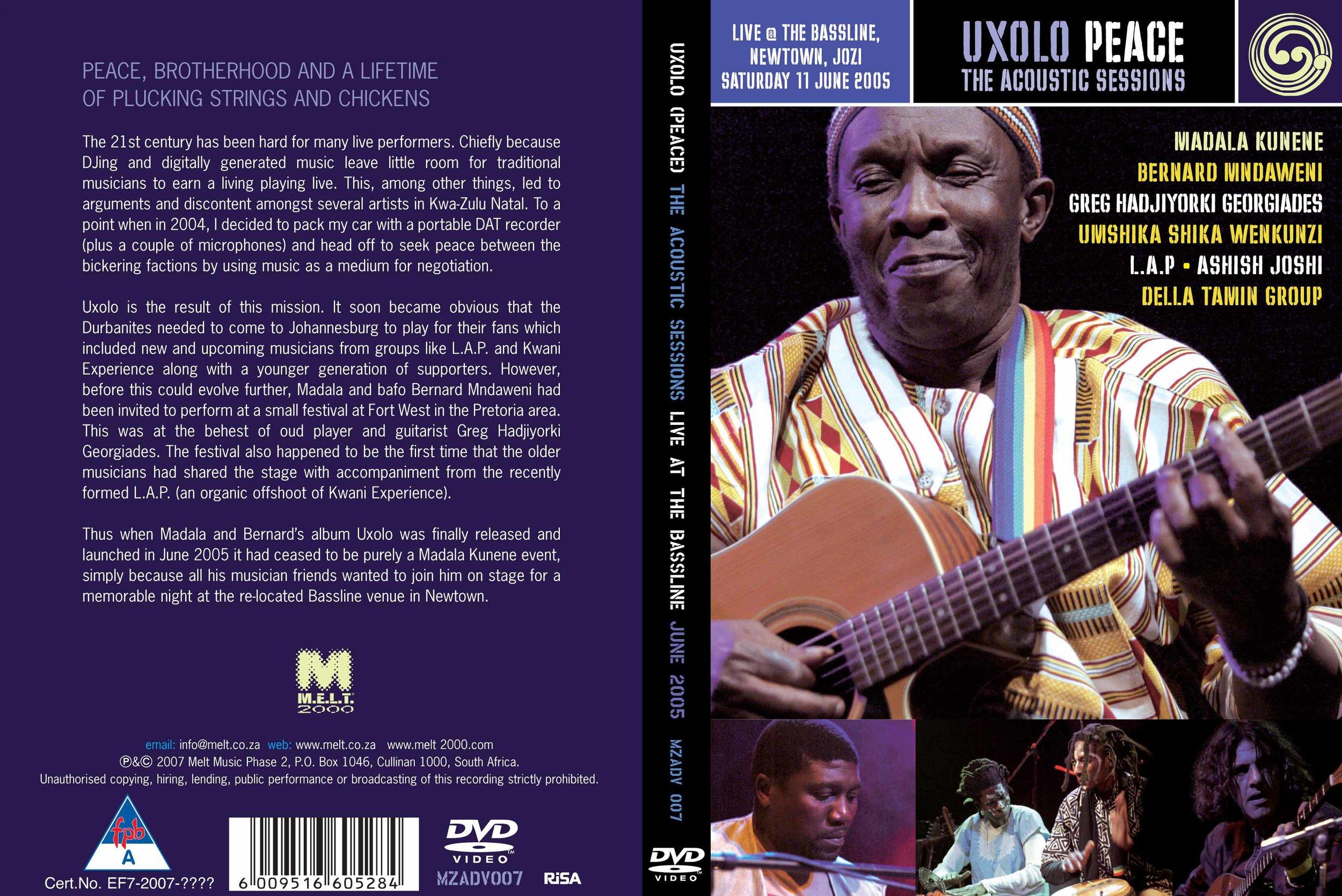 Madala MZADV 007 Uxolo DVD Cover4x4.jpg