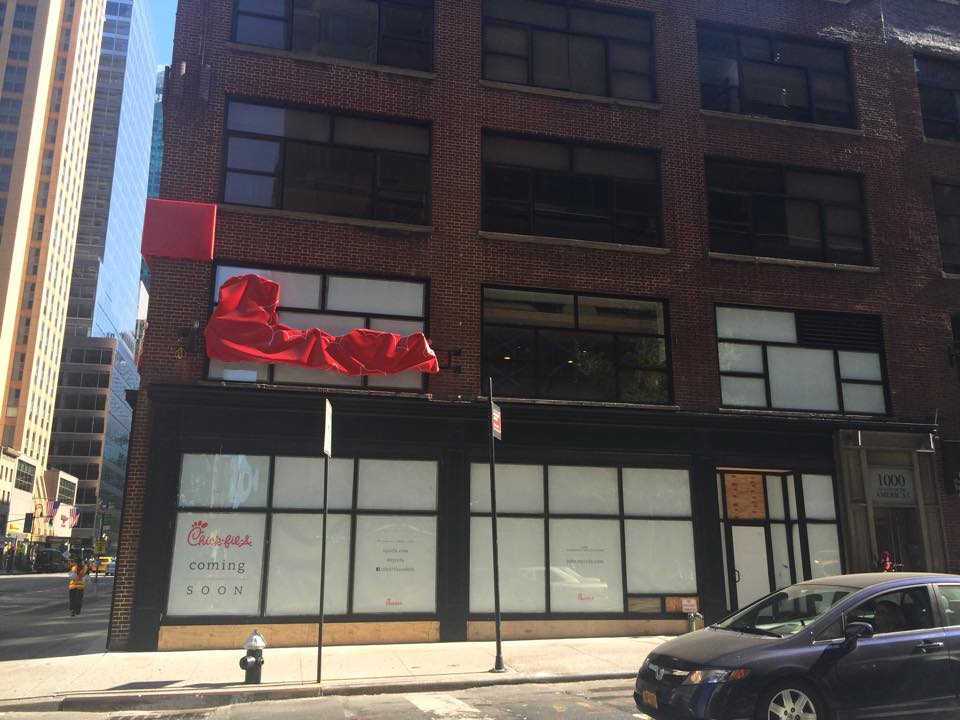 The new Chick-fil-a location located at 37th and Sixth Avenue is midtown will be opening soon. Photo by Madison Iszler.