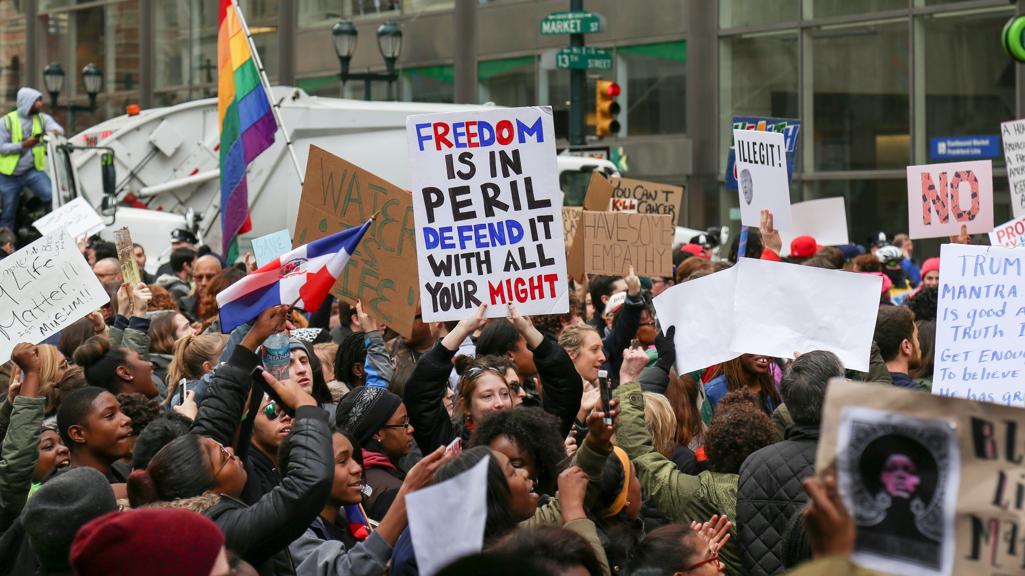 Protests sprouted up across the nation in response to President Trump's Executive Order banning Travel from seven predominantly Muslim countries.
